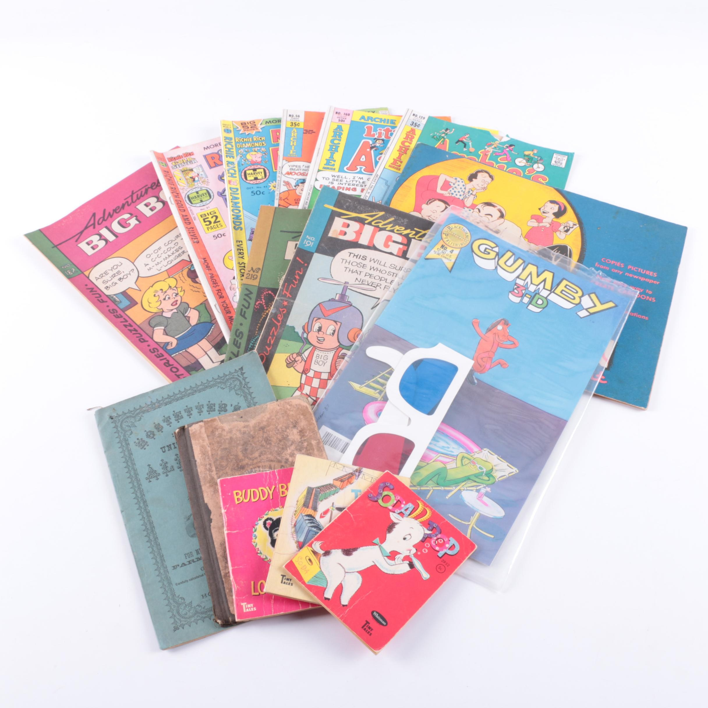"Assorted Comic Books and Children's Books Including ""Archie"""