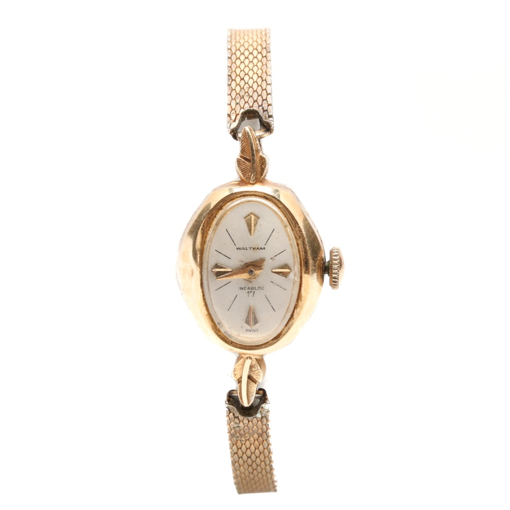 14K Yellow Gold Waltham Wristwatch