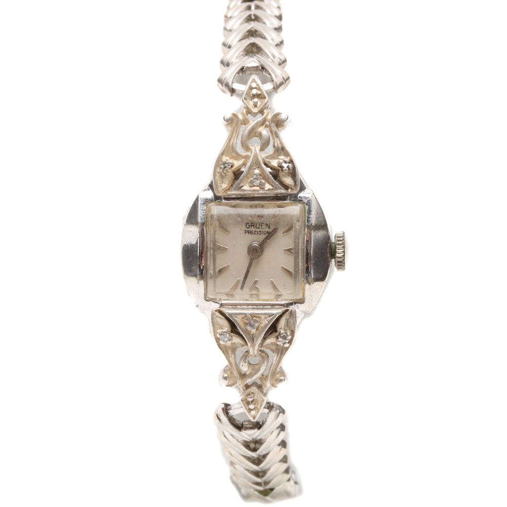 Vintage Diamond Accent Gruen Watch