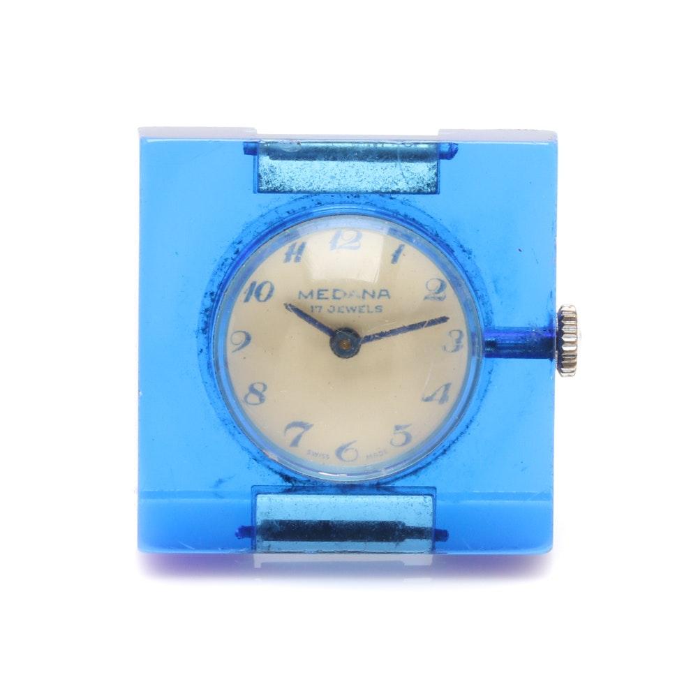 Medana Modernist Lucite Watch Face