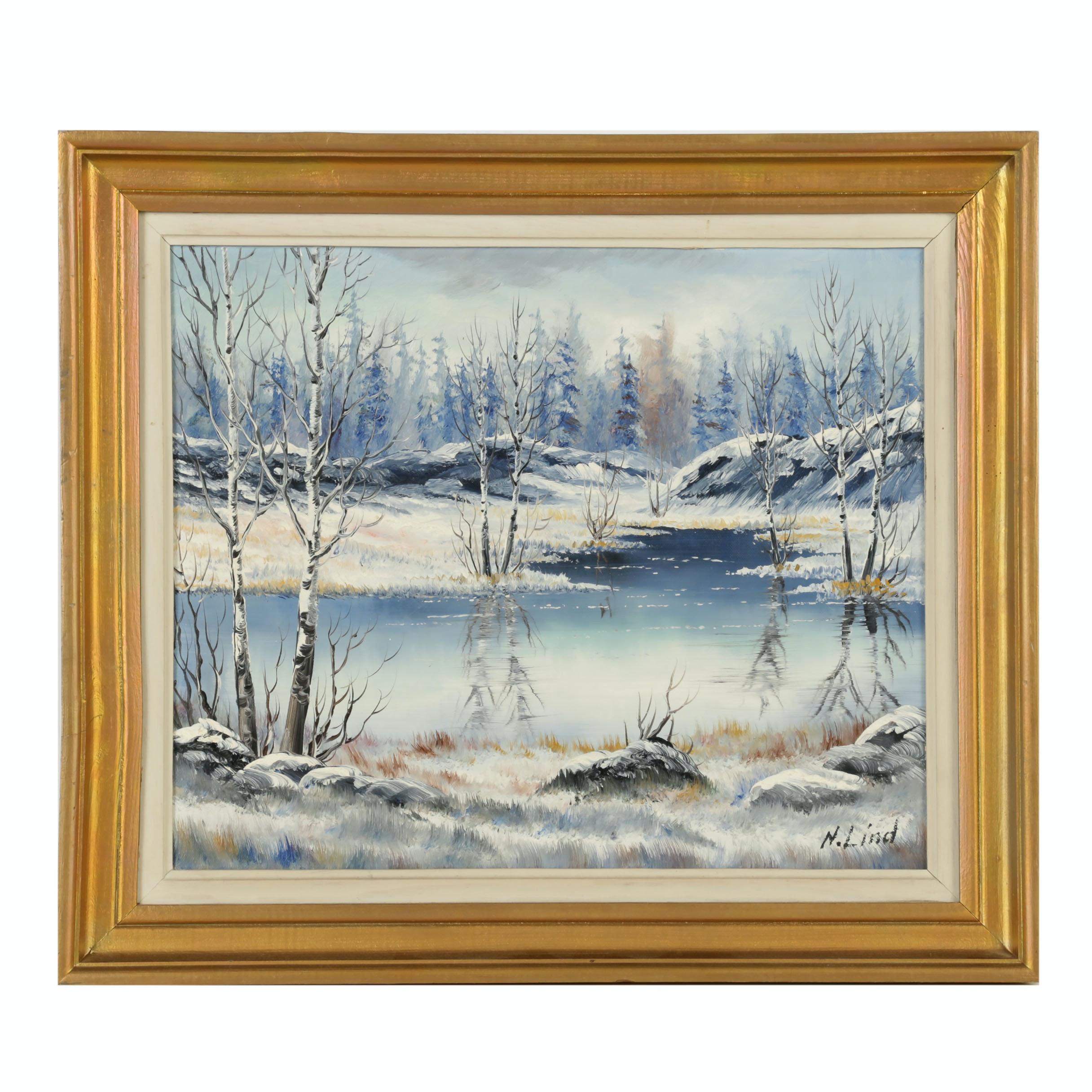 N. Lind Oil Painting