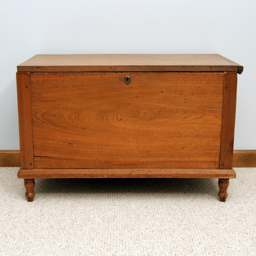 Antique Walnut Sheraton Style Blanket Chest