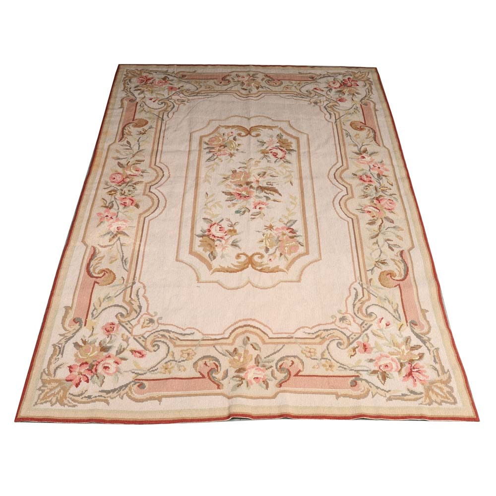 Handmade French Aubusson Needlepoint Rug