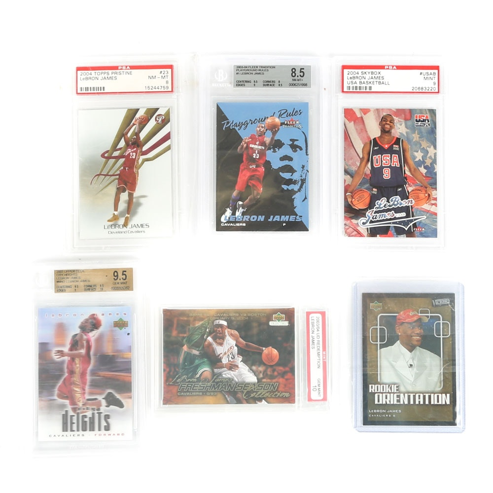 LeBron James Graded Trading Cards