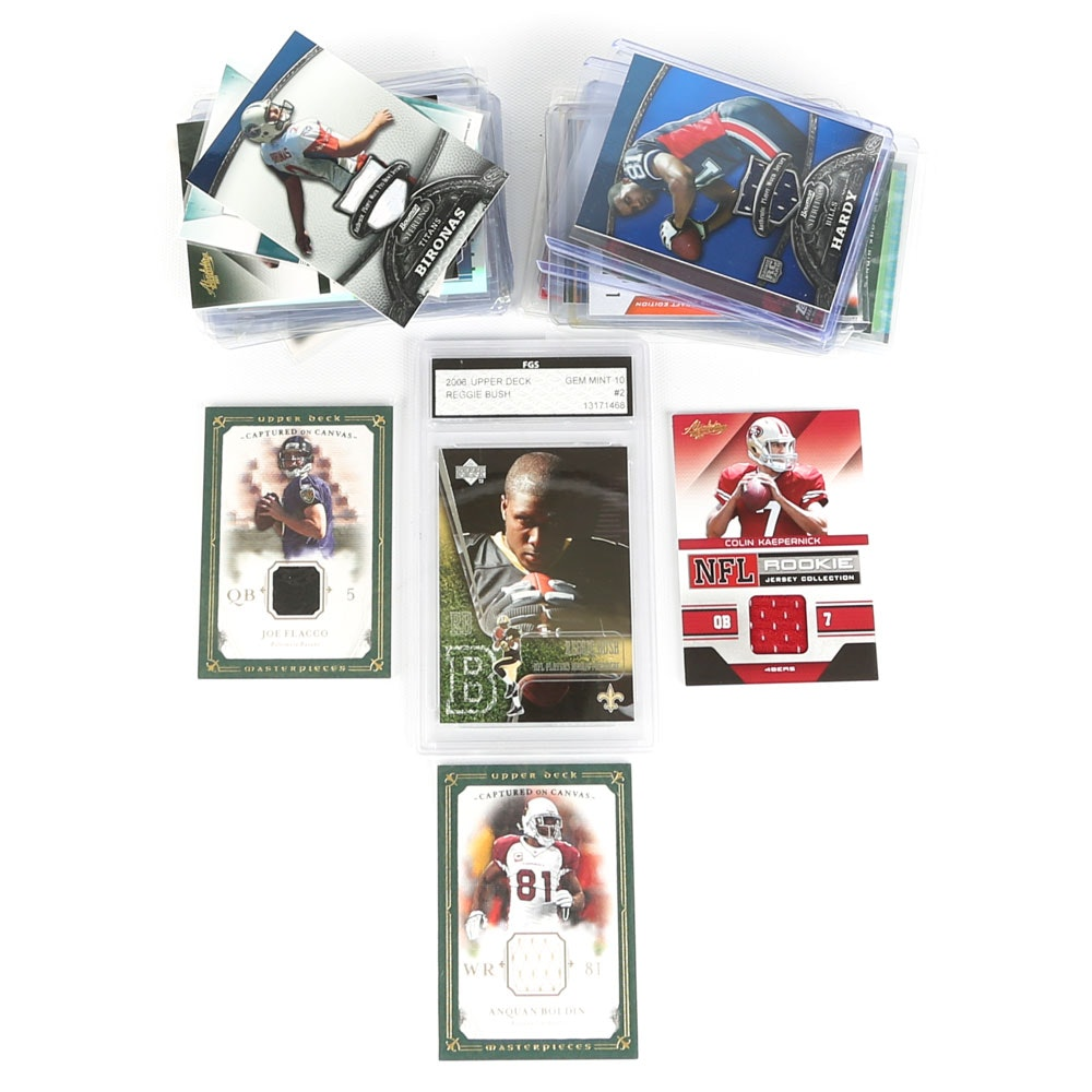 NFL Trading Cards Featuring Graded, Swatch and Signed Cards