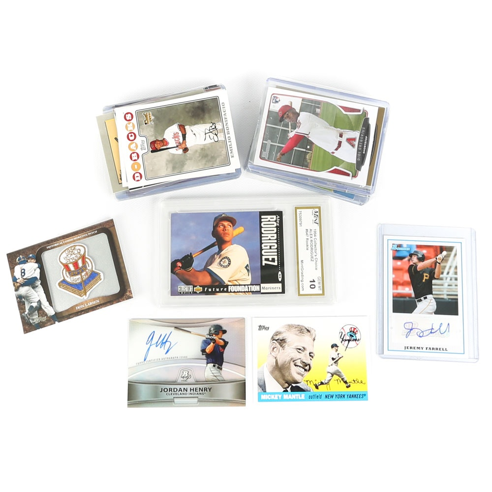 Baseball Cards Featuring Graded A-Rod