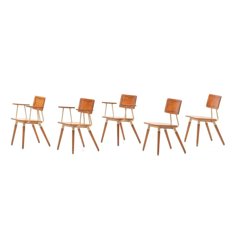 Vintage Mid Century Modern School Chairs by the Hill-Rom Company