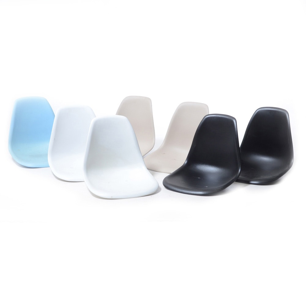 Eames Style Molded Shell Chair Seats