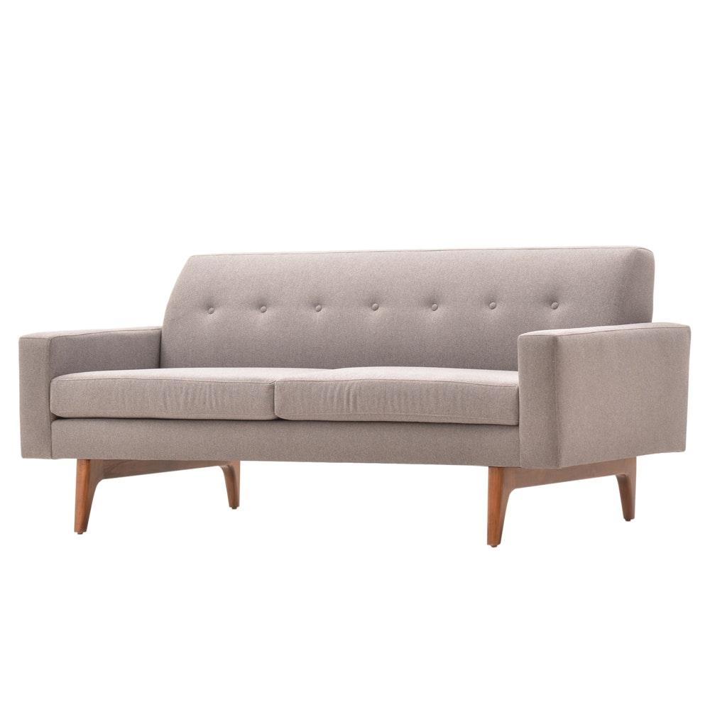 Mid Century Modern Style Gray Sofa