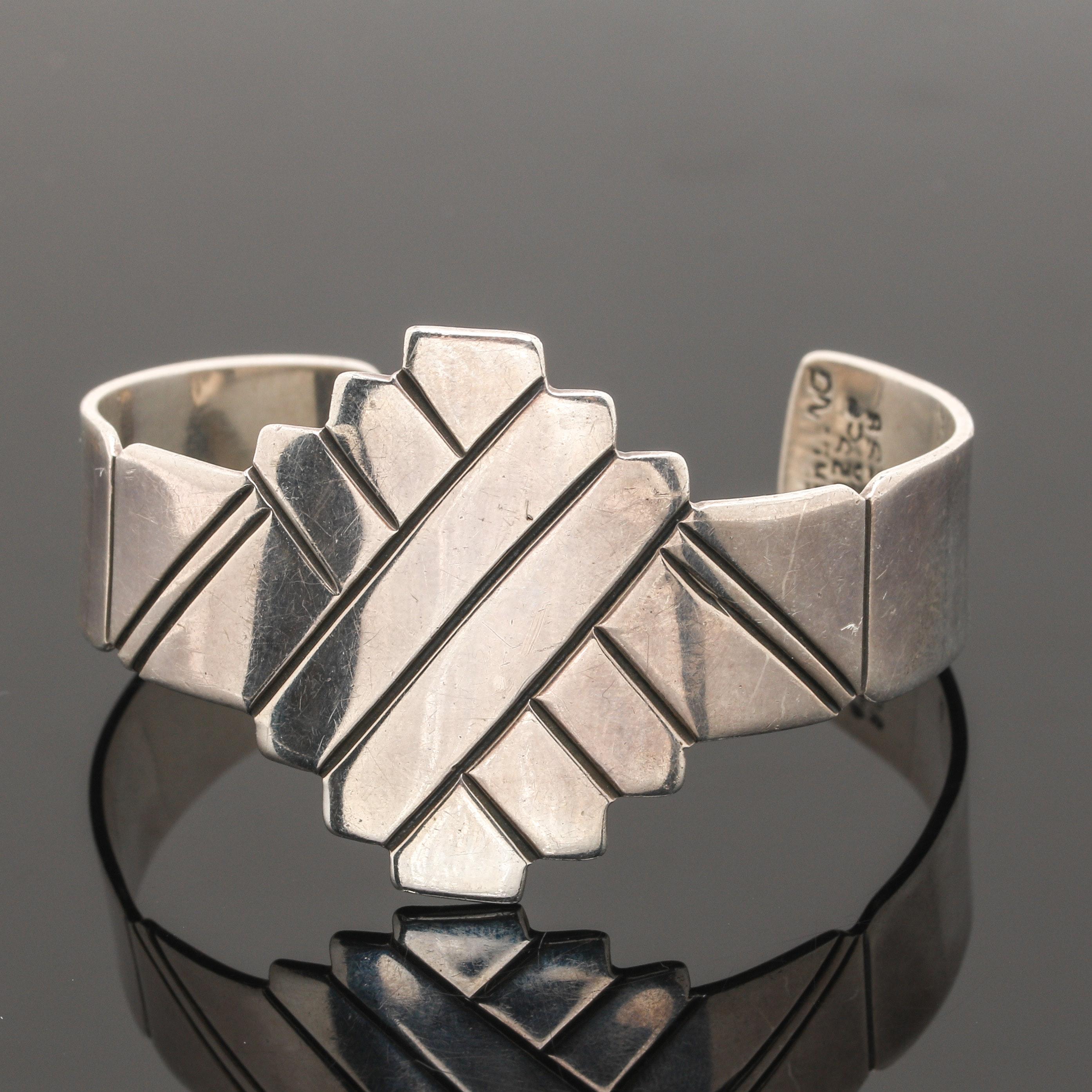 Taxco Sterling Silver Cuff Bracelet