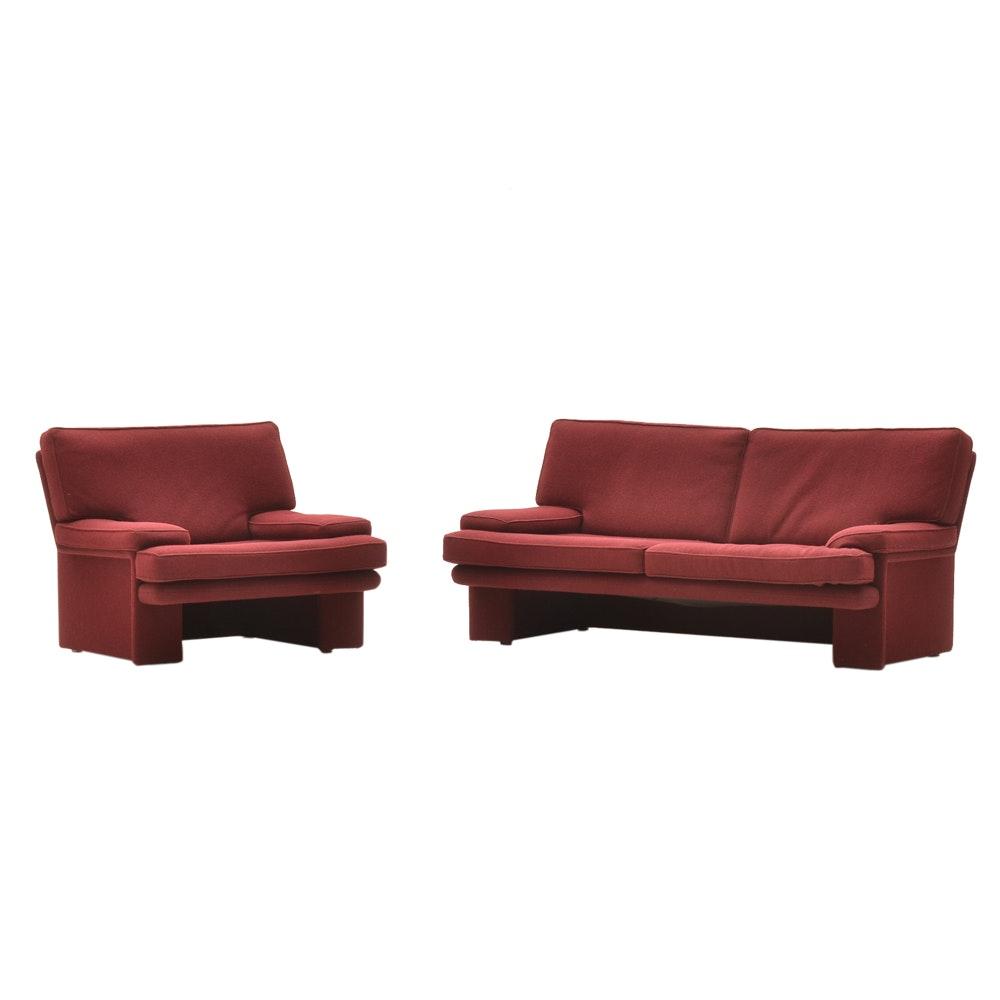"Walter Knoll for Brayton International ""Sirino"" Sofa and Chair"