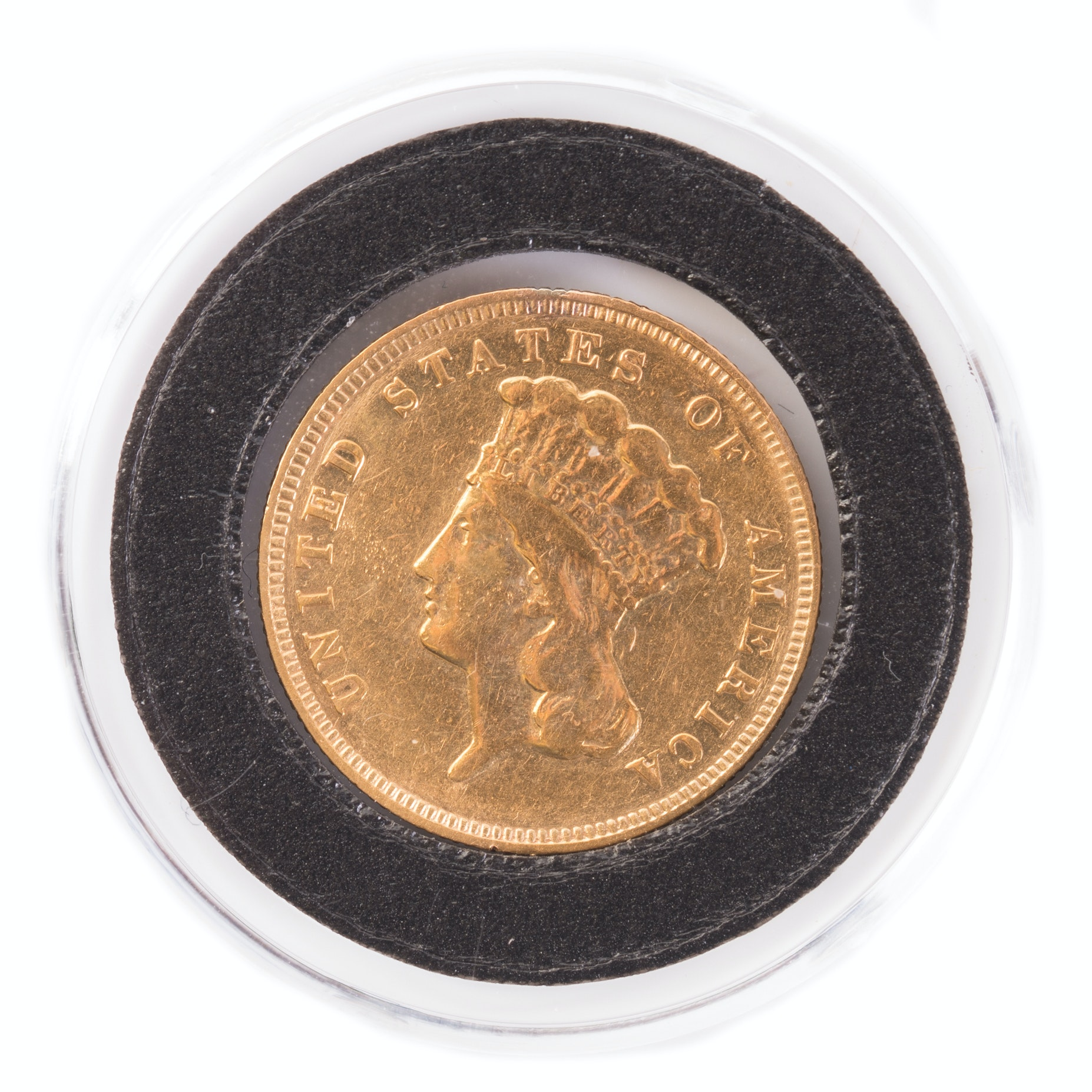 1878 Indian Princess Head $3 Gold Coin