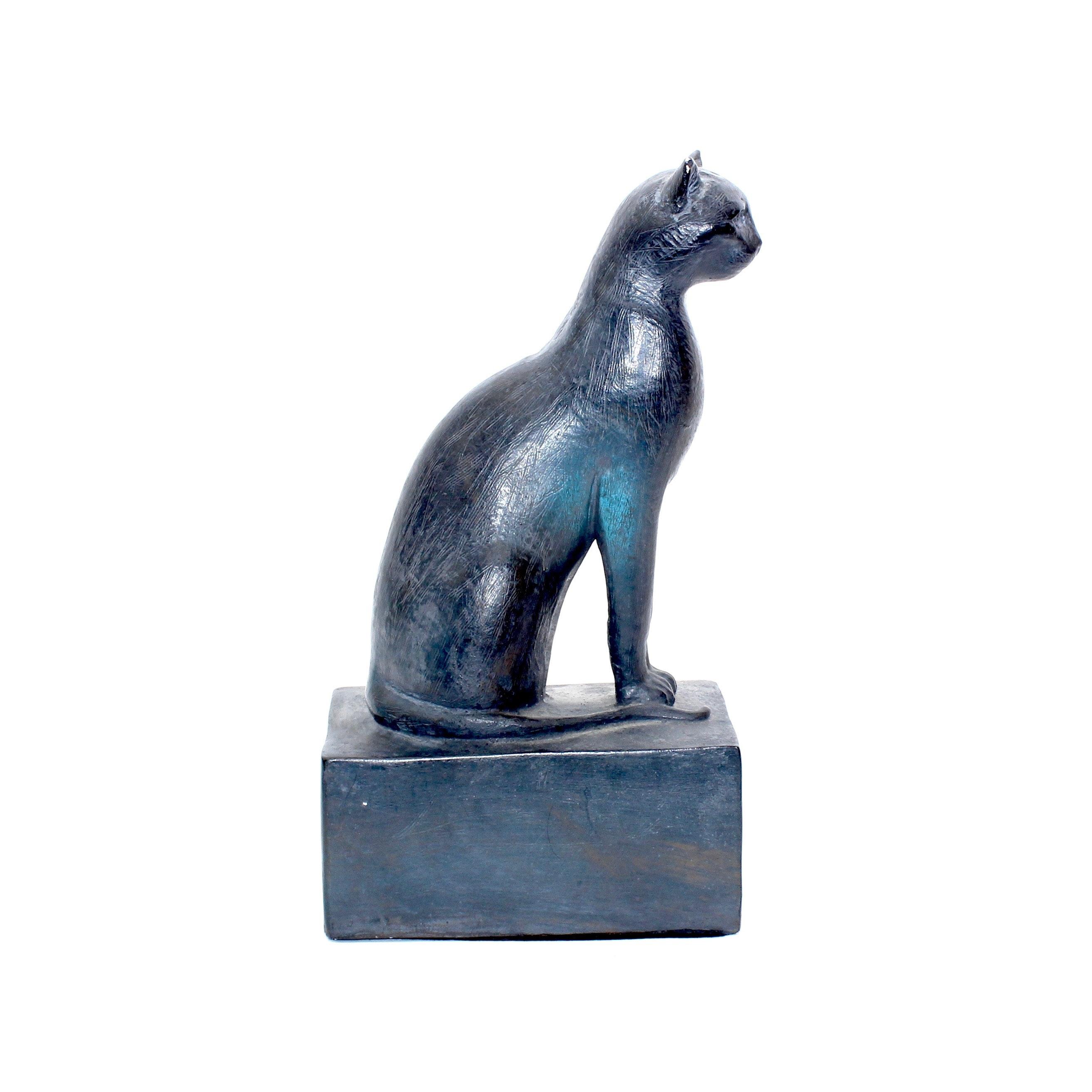 Austin Productions Black Ceramic Cat Sculpture