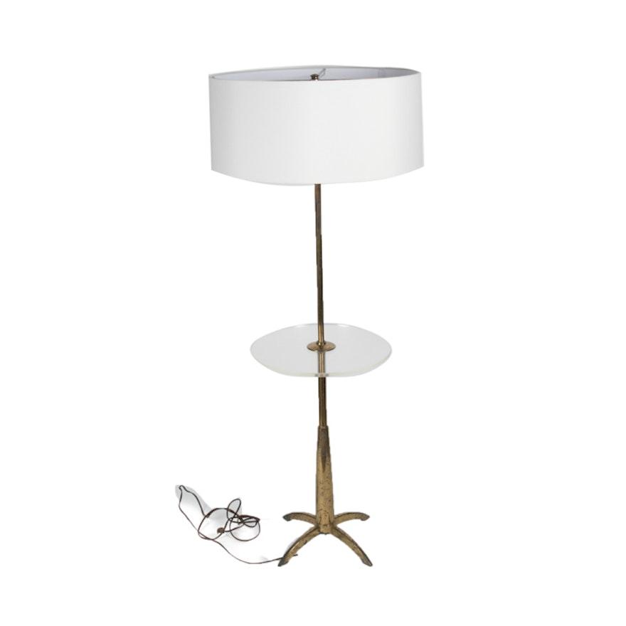 Vintage stiffel brass tray table floor lamp ebth vintage stiffel brass tray table floor lamp mozeypictures Choice Image