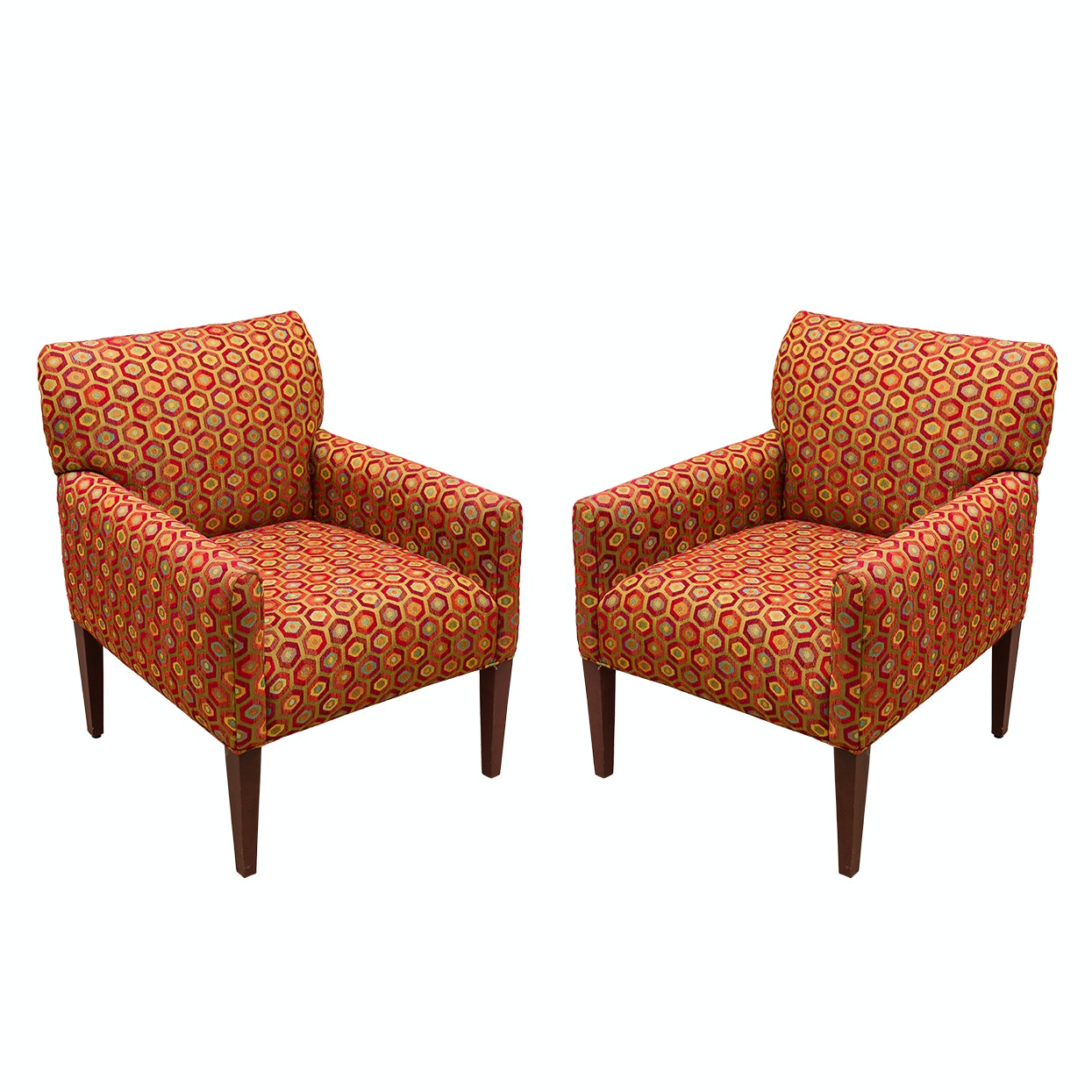 Upholstered Contemporary Armchairs