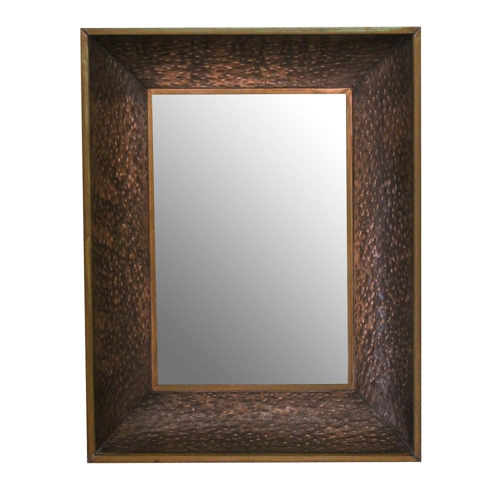 Vintage Copper Framed Wall Mirror