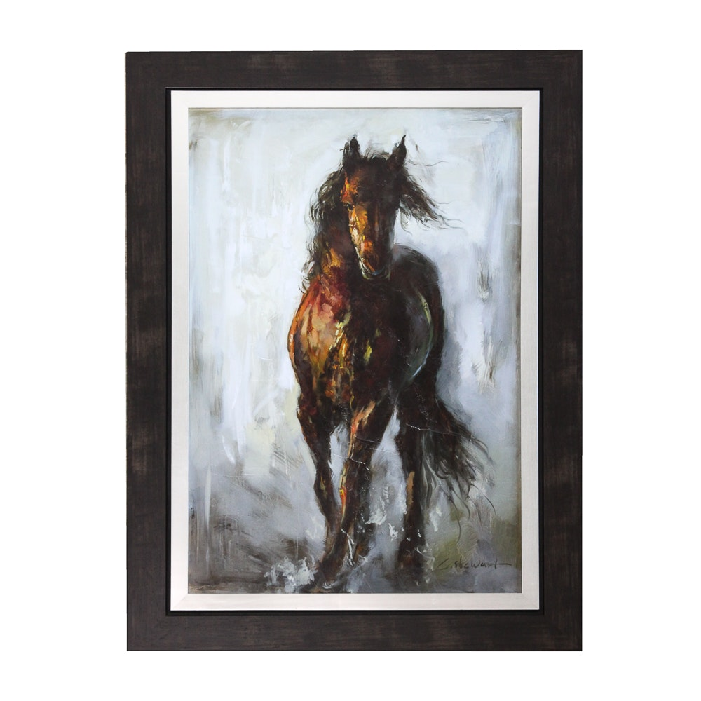 """Giclée Reproduction on Canvas after C. Stewart """"Paragon Magnifico"""""""