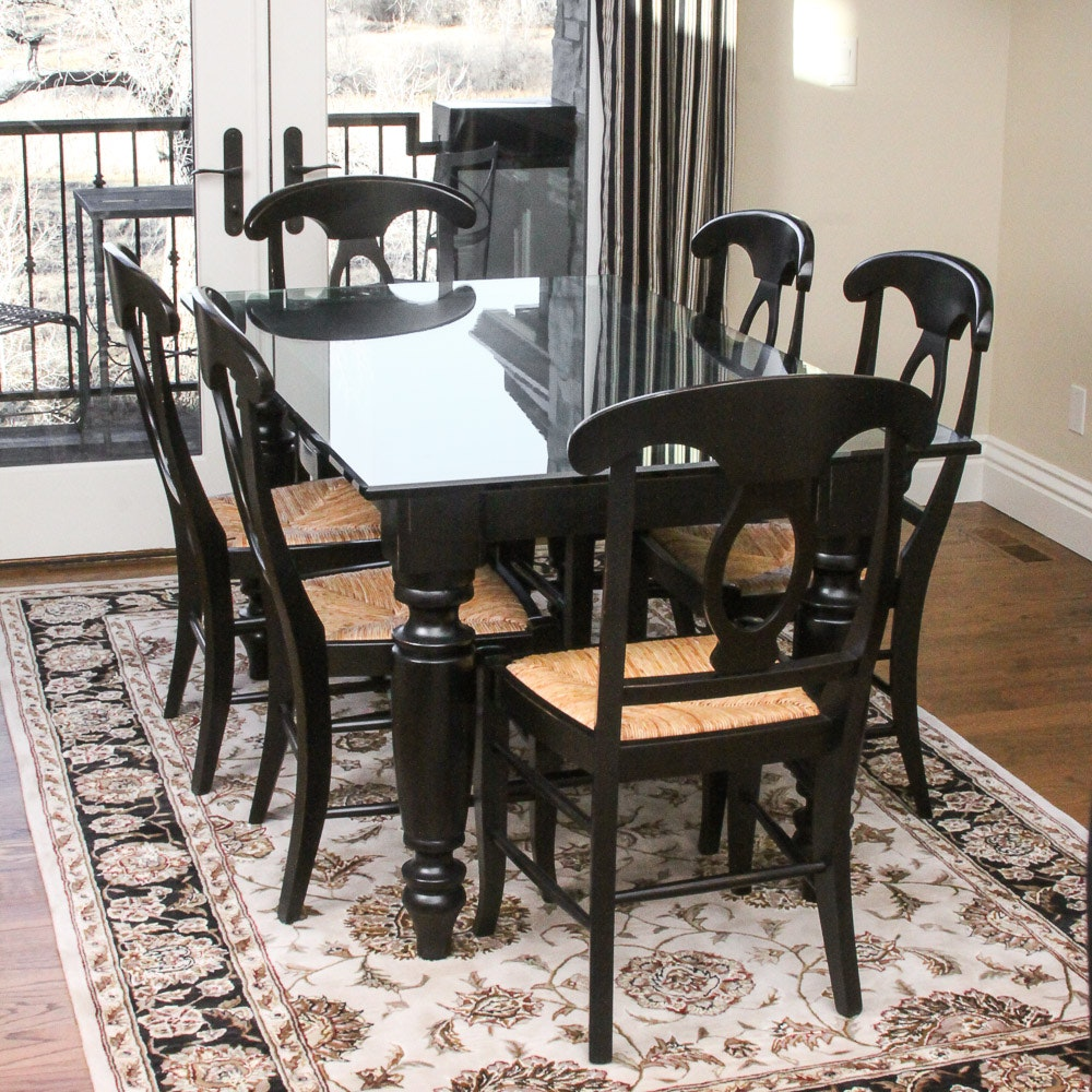 Contemporary Dining Table with Chairs by Pottery Barn
