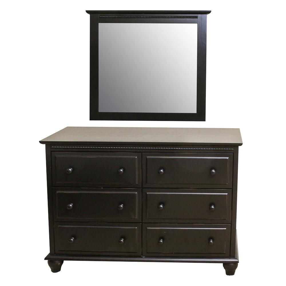 Contemporary Dresser with Mirror by Tradewins