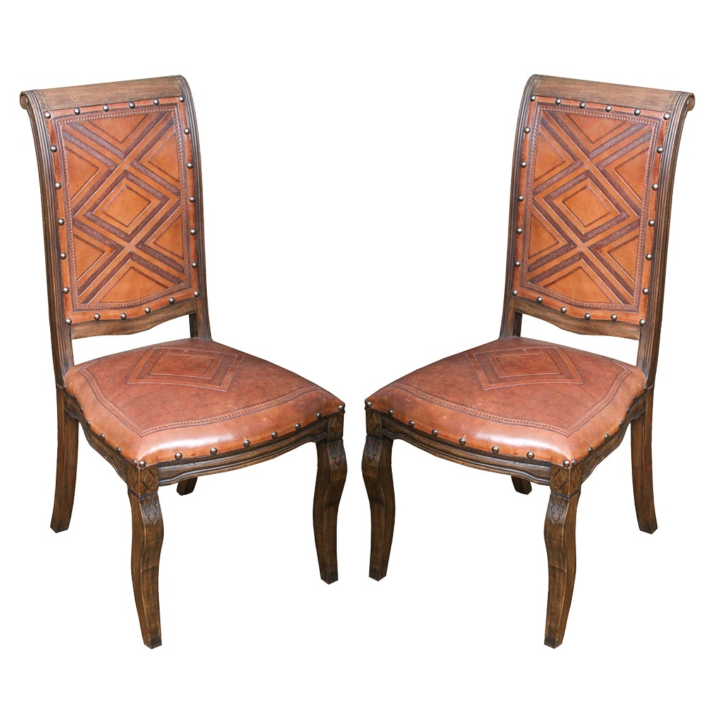 Upholstered Leather Side Chairs