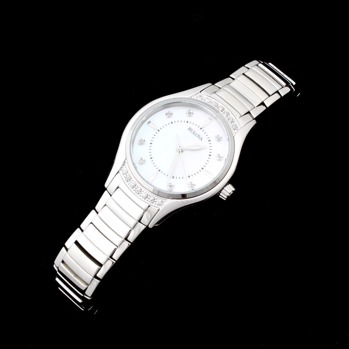 Bulova Stainless Steel Diamond Wristwatch