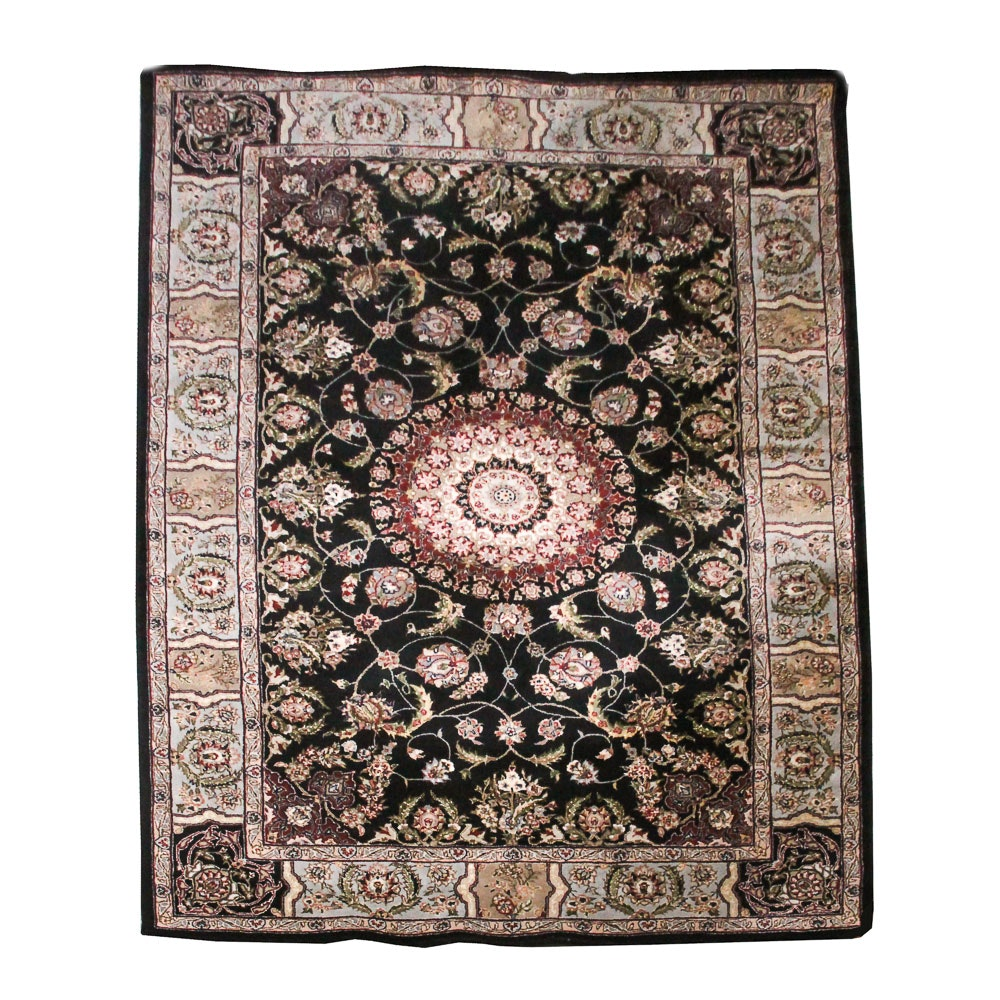 Hand-Tufted Indian Style Wool Area Rug