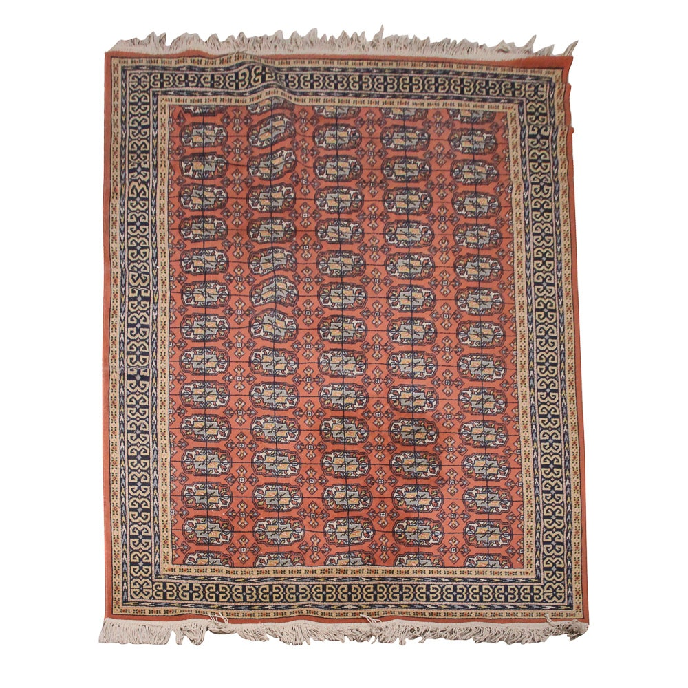 Power-Loomed Bokhara Style Wool Area Rug
