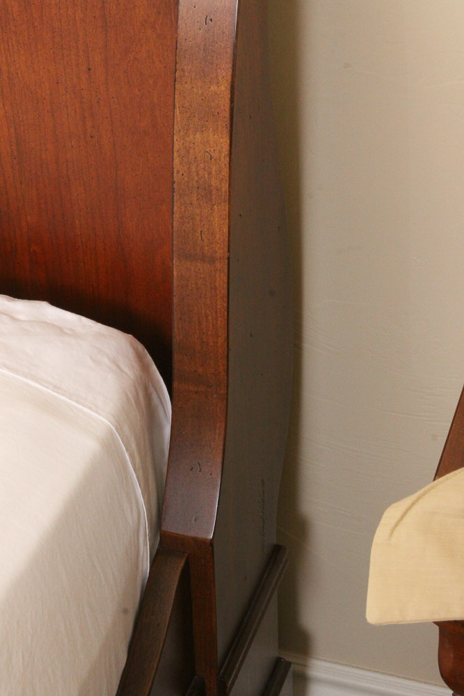 Queen Size Sleigh Bed Frame With Nightstands By Mt Airy