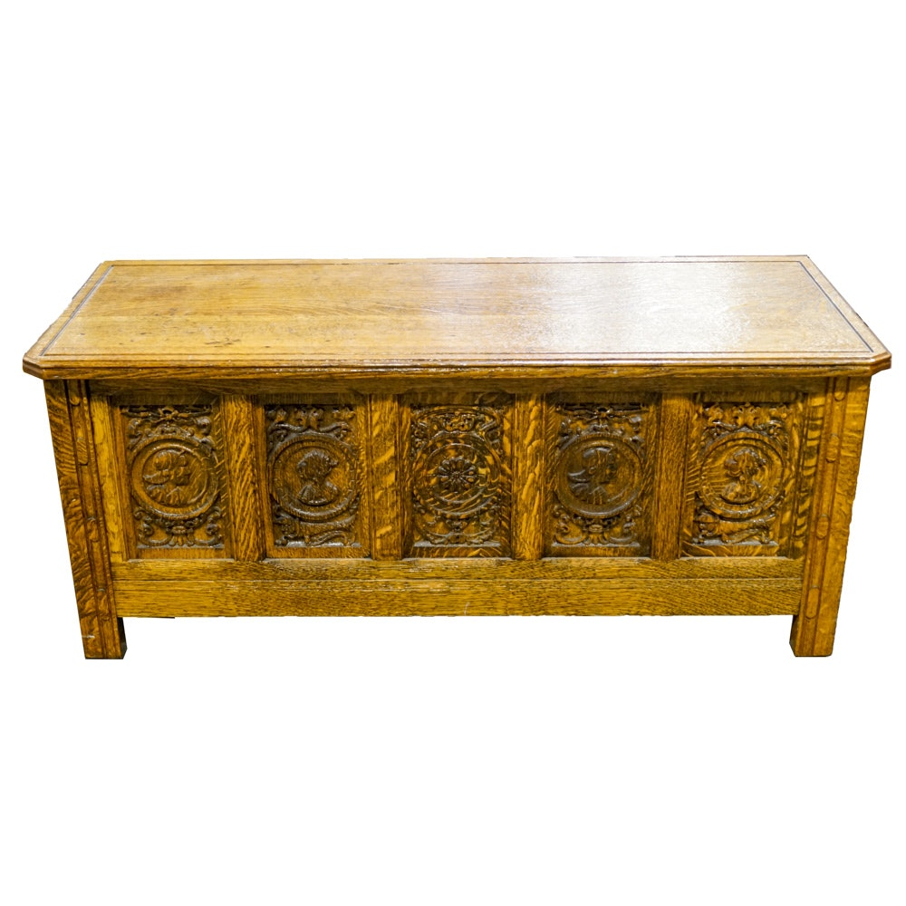 Ornate Carved Wooden Chest