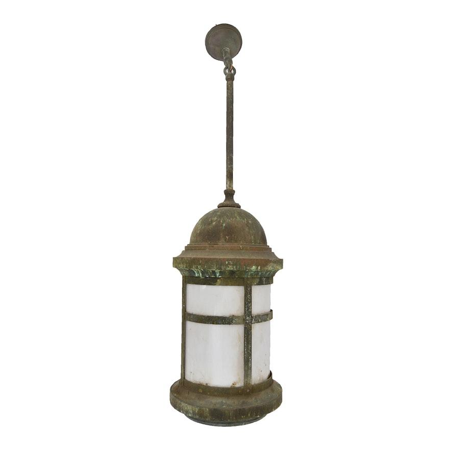 Vintage outdoor lantern pendant light ebth vintage outdoor lantern pendant light aloadofball Choice Image