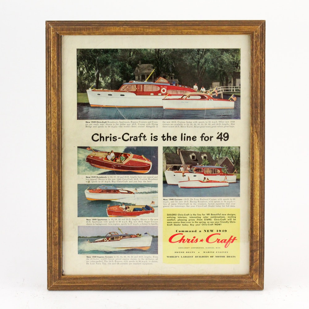 Original 1949 Chris-Craft Boat Magazine Advertisement