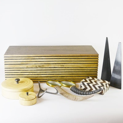 Wood Boxes and Office Decor