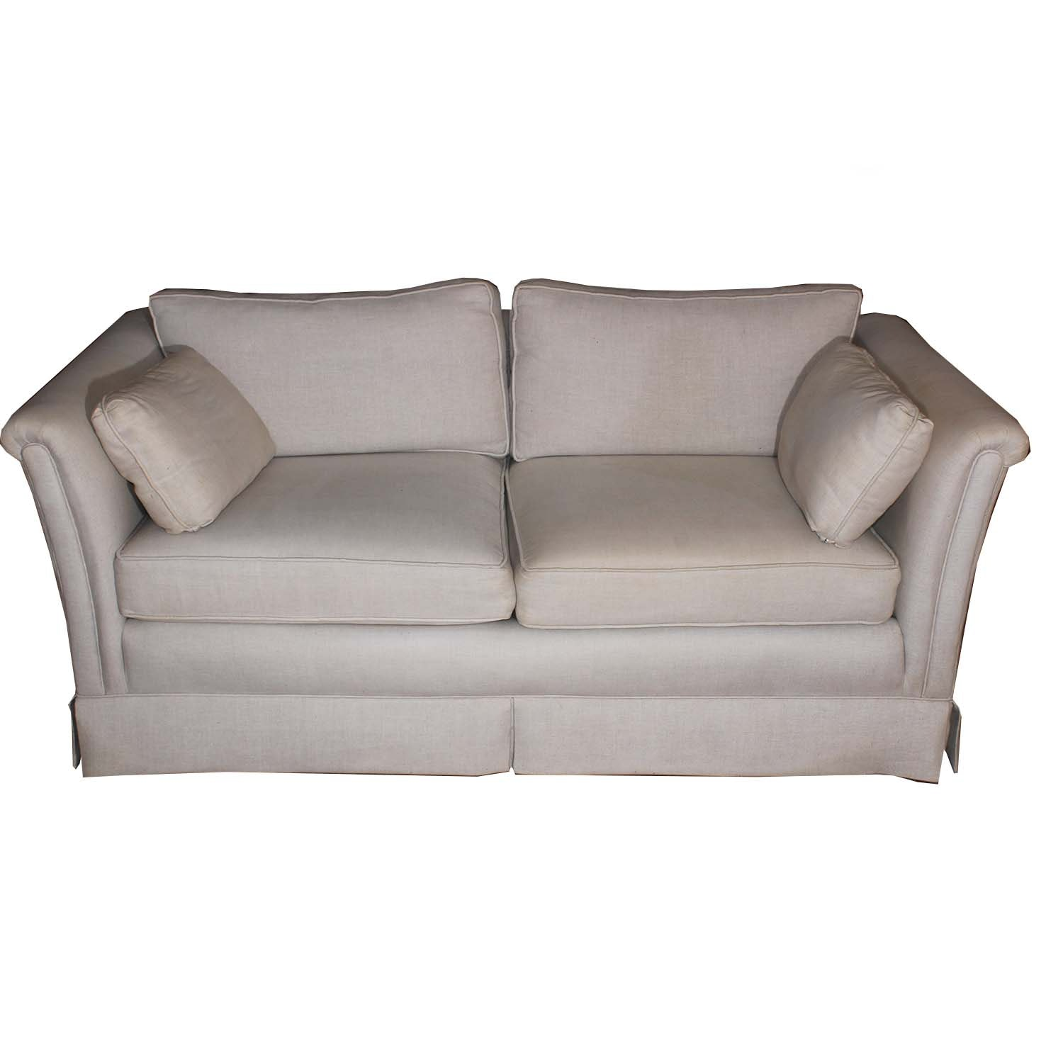 Cream Upholstered Loveseat Sofa