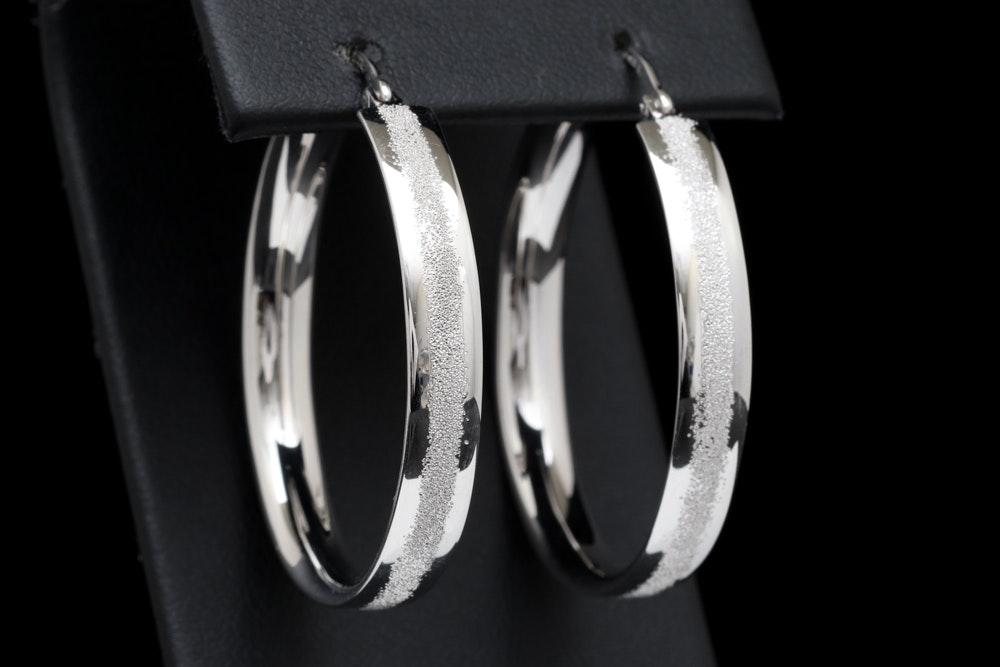 Bastian Sterling Silver Hoop Earrings