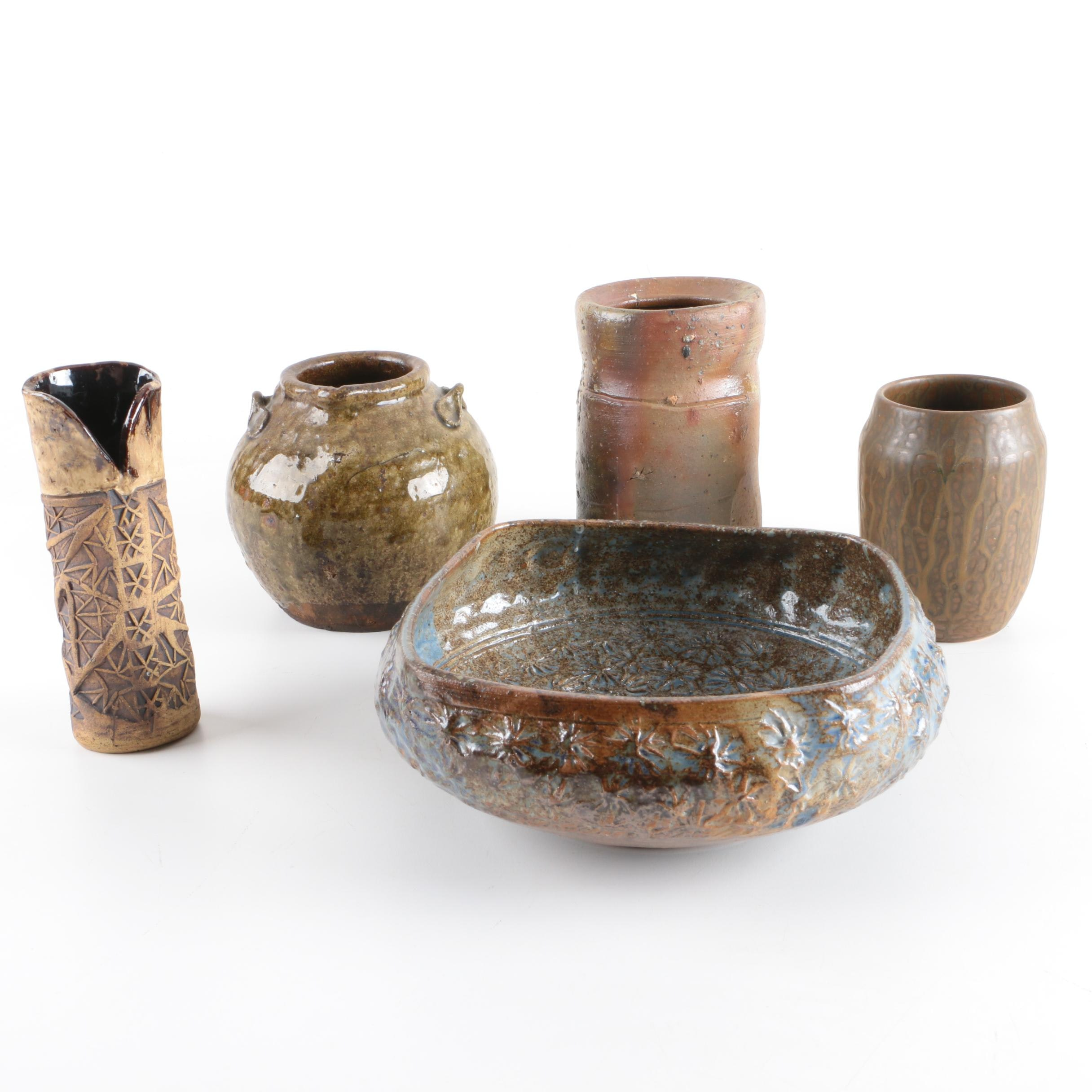 Art Pottery Vases and Bowl Featuring D.X. Gordy
