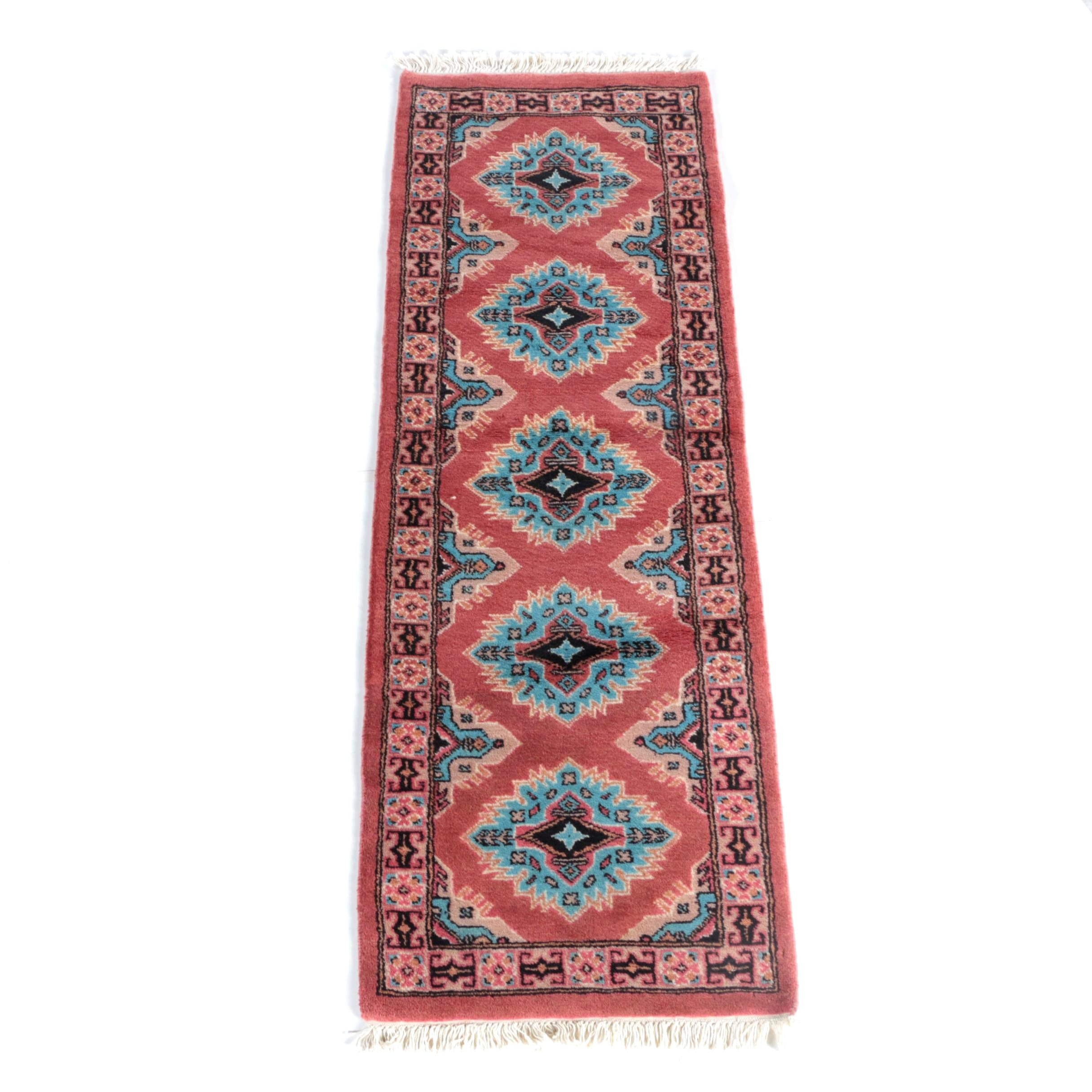 Hand-Knotted Pak-Kazak Wool Carpet Runner
