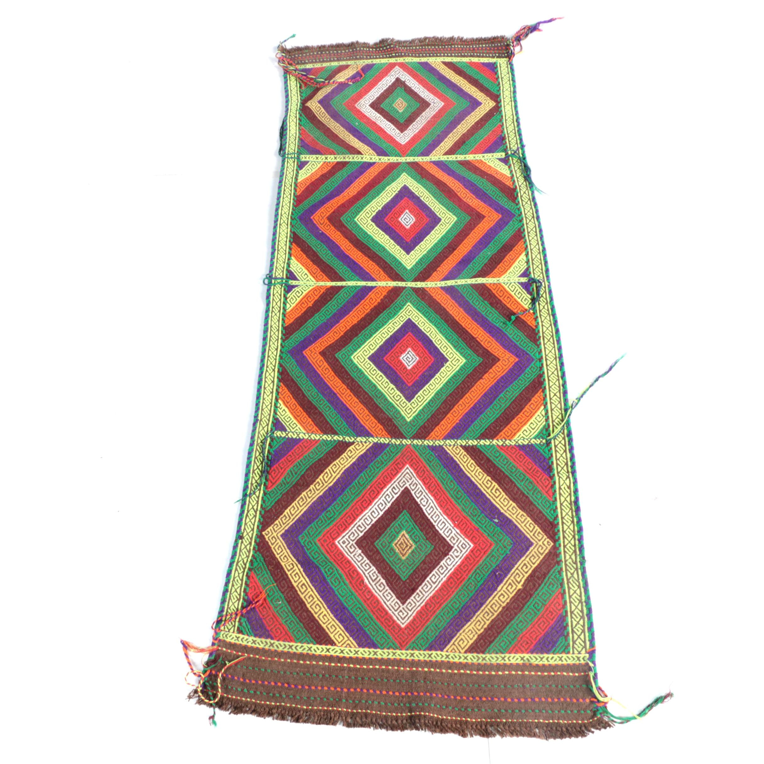 Hand-Knotted Central Asian Wool Carpet Runner