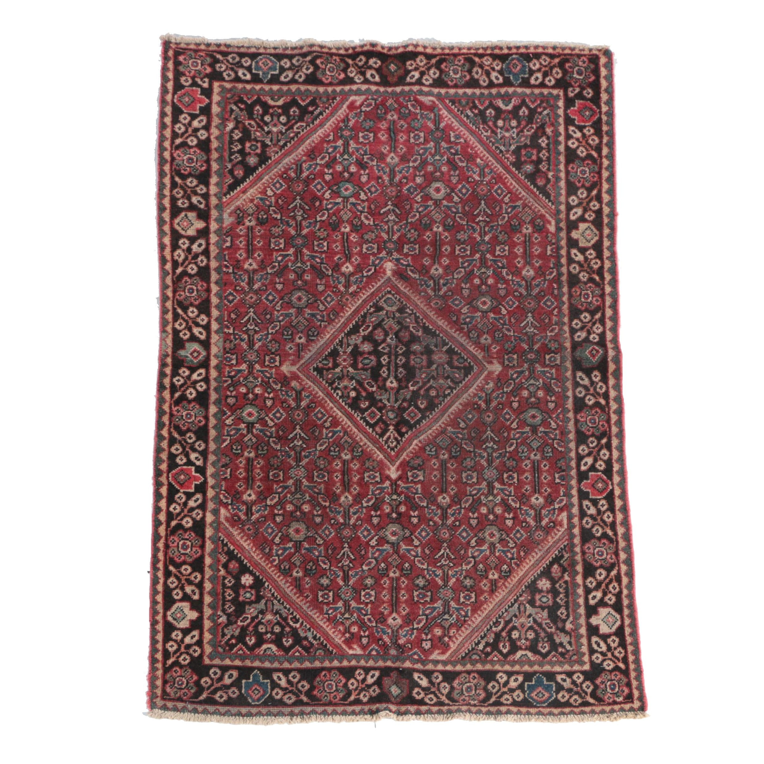 Hand-Knotted Bijar Wool Area Rug