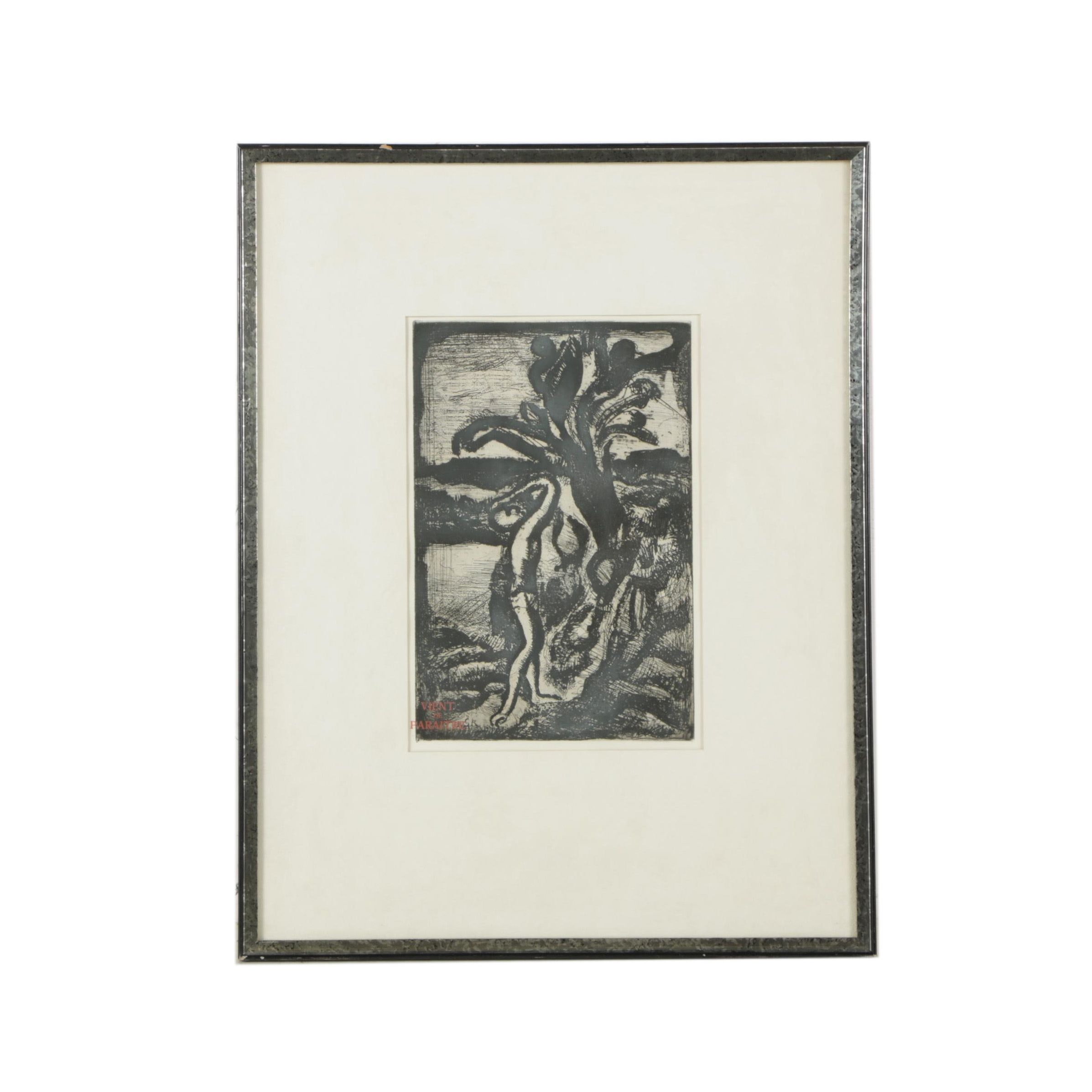 "Etching After Georges Rouault ""Frontispiece: Reincarnations du Pere Ubu (No.I)"""