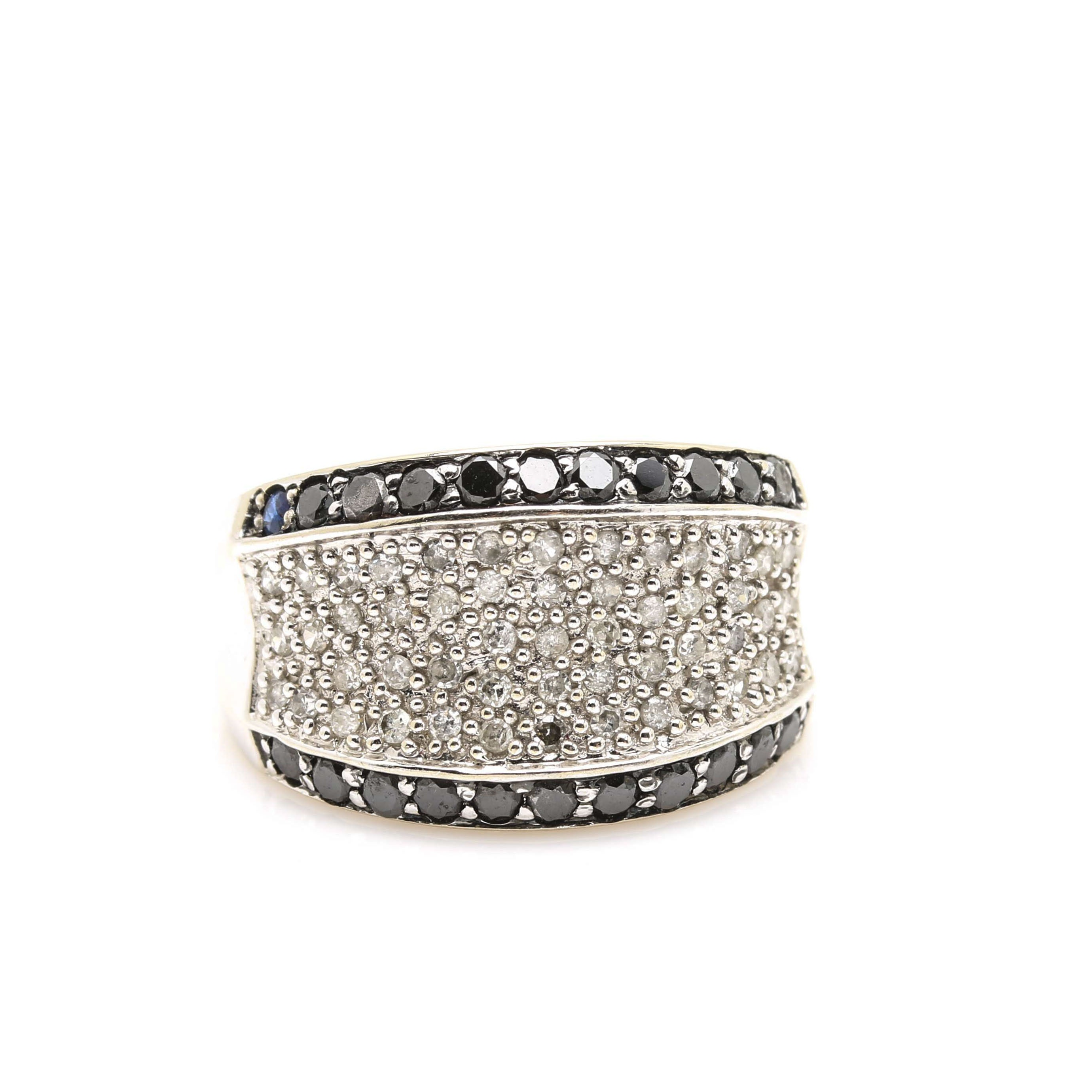 10K White Gold Diamond Dome Ring
