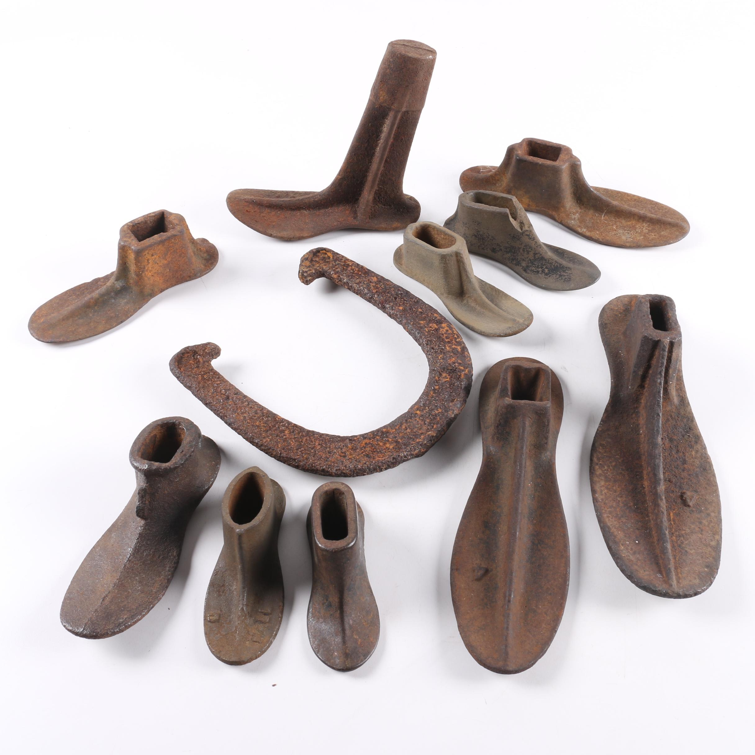Cobblers Shoe Forms and Horse Shoe