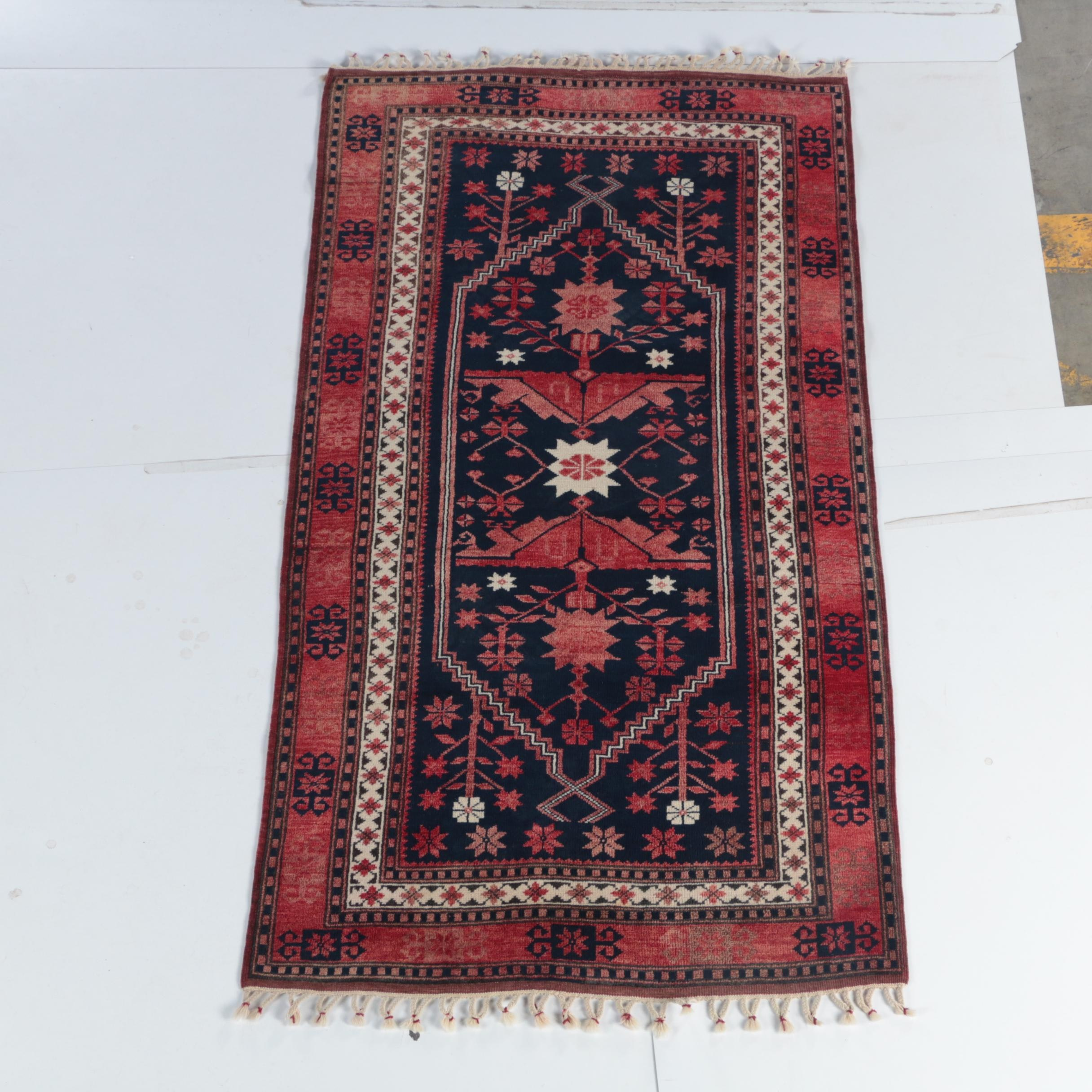 Hand-Knotted Turkish Yağcıbedir Wool Area Rug