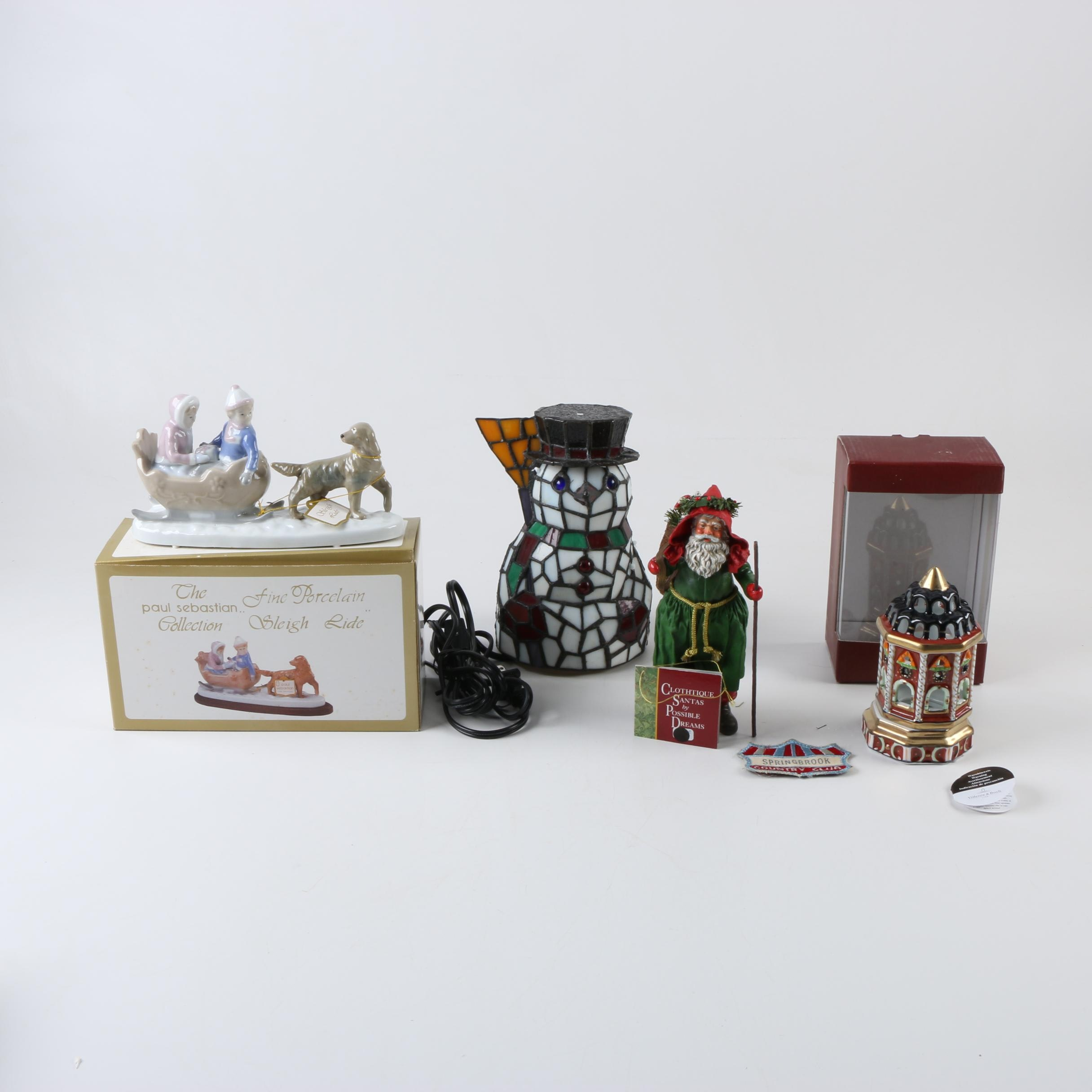 Christmas Lamp and Decorations featuring Paul Sebastian