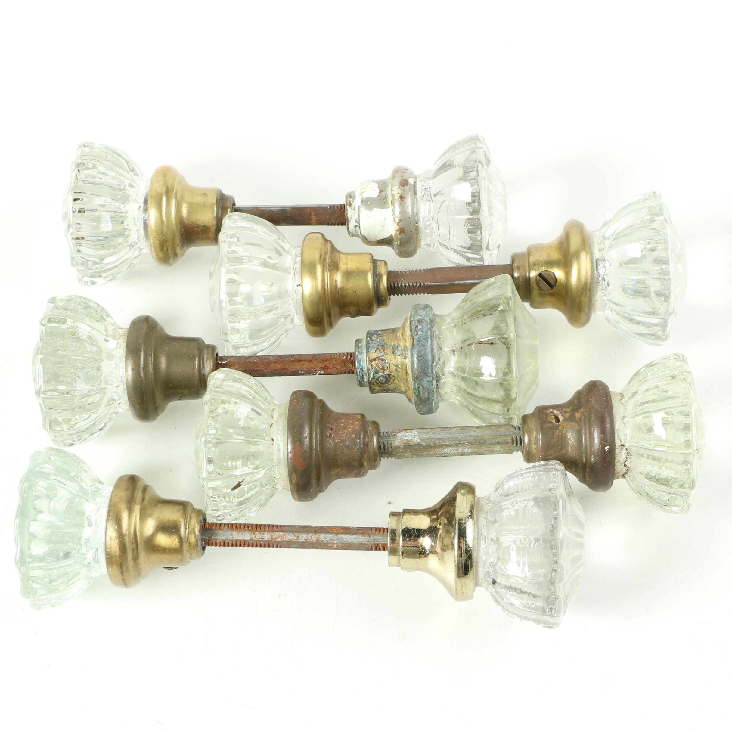 Glass and Metal Doorknobs