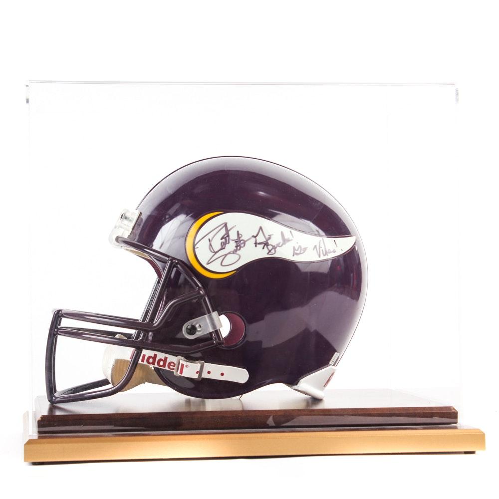 Robert Smith Autographed Minnesota Vikings Helmet in Display Case