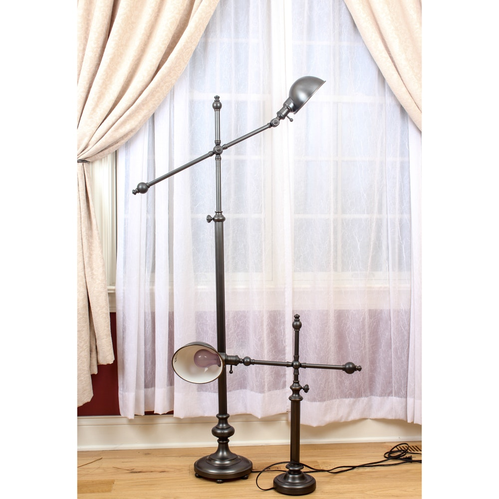 Cantilever Floor Lamp with Matching Desk Lamp