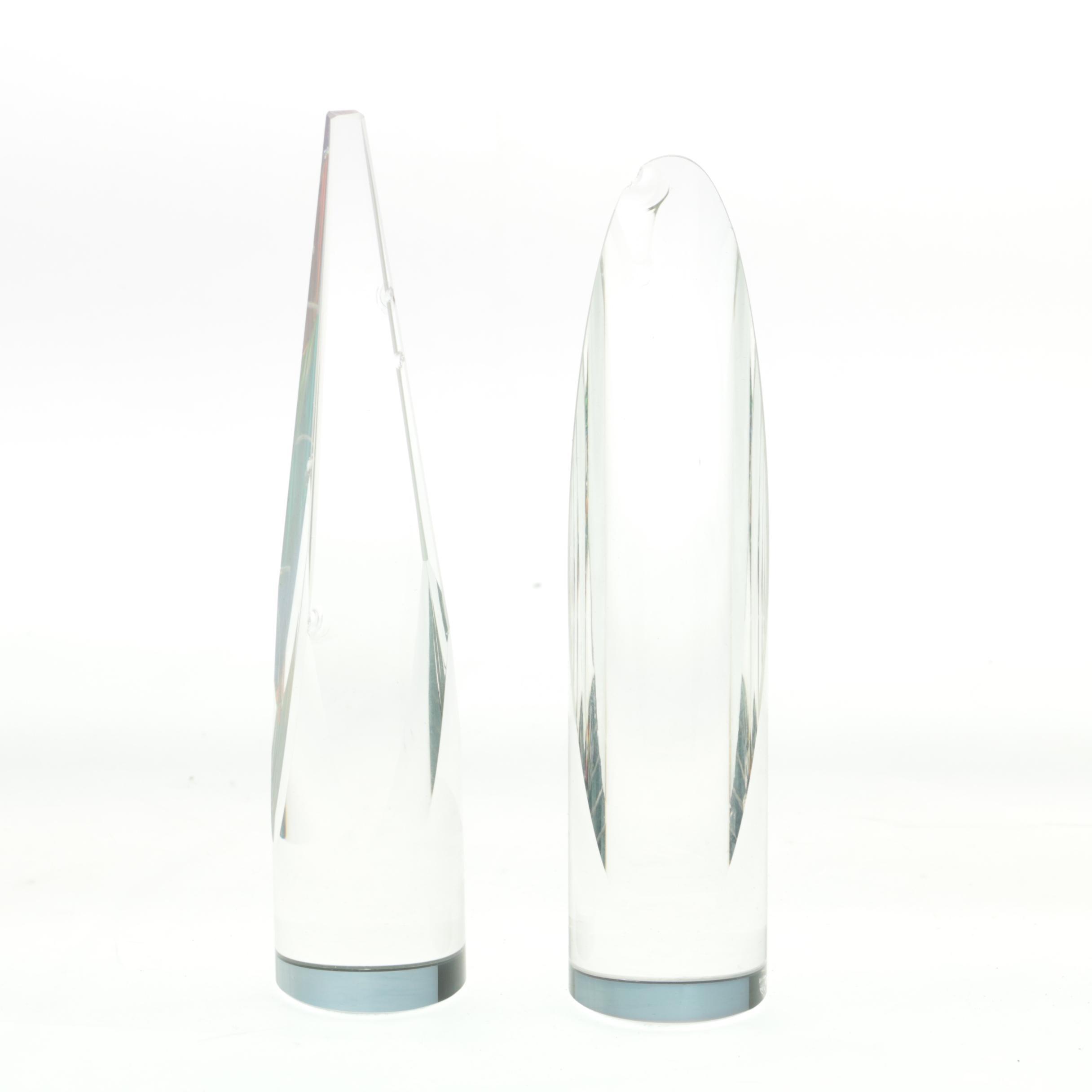 Vintage German Crystal Obelisks