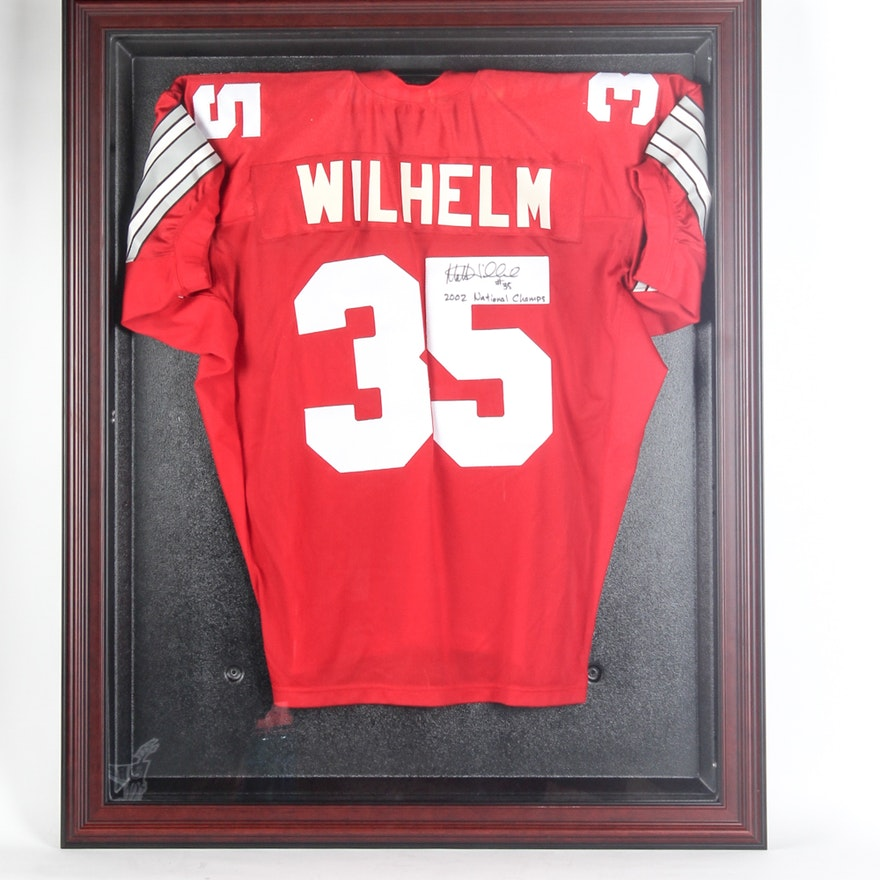 324d2306 Matt Wilhelm Autographed Ohio State Buckeyes Jersey in Display Case : EBTH