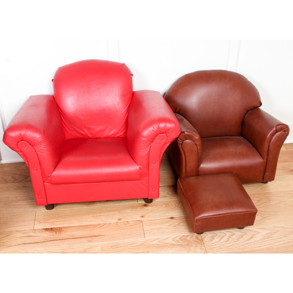 Faux Leather Children Chairs