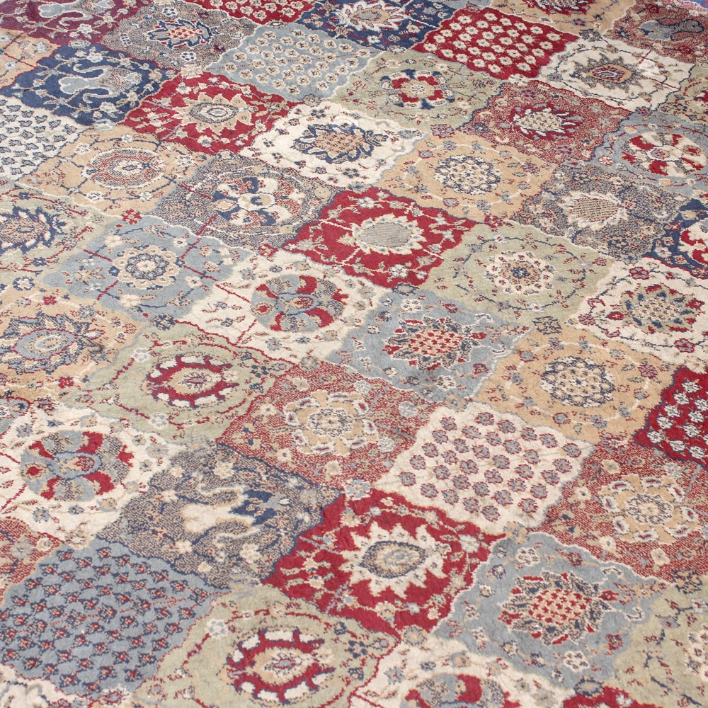 Machine Knotted Bakhtiari Style Room Size Rug by Ariana